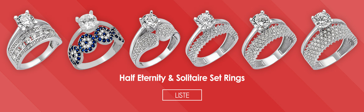 Half Eternity & Solitaire Set Rings