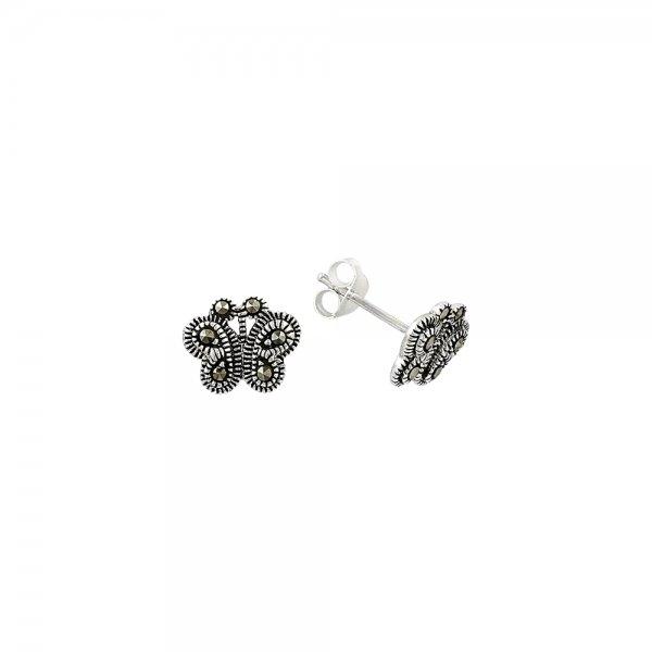 Marcasite Butterfly Earrings - E81753