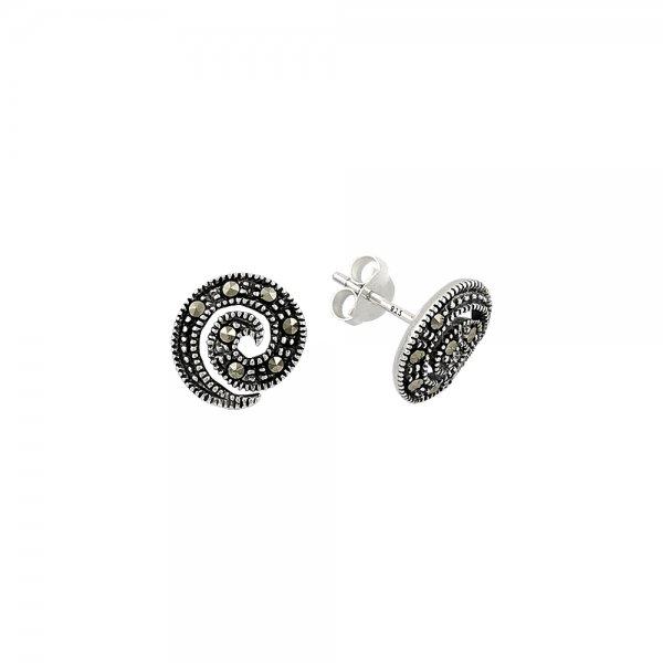 Marcasite Spiral Earrings - E81751