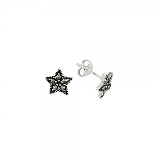 Marcasite Star Earrings - E81750