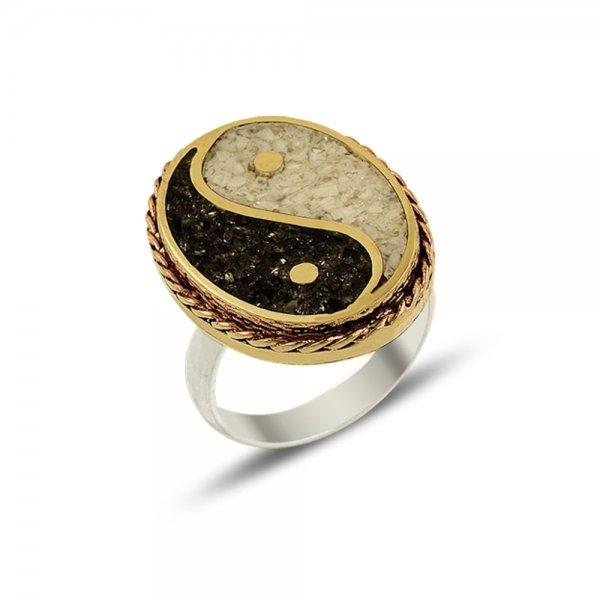Ottoman Style Ying Yang Ring - R14662