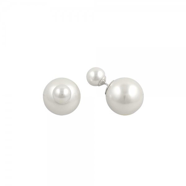 Double Sided Pearl Earrings - E14600