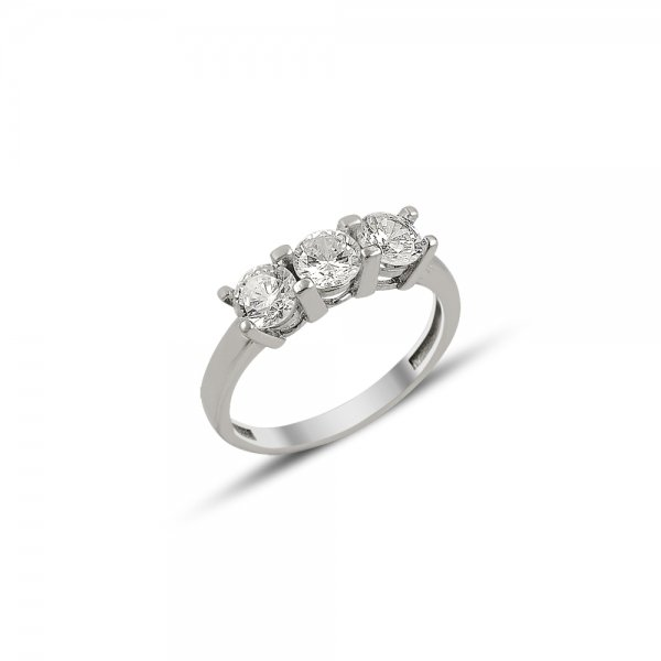 CZ Three Stone Ring - R81893