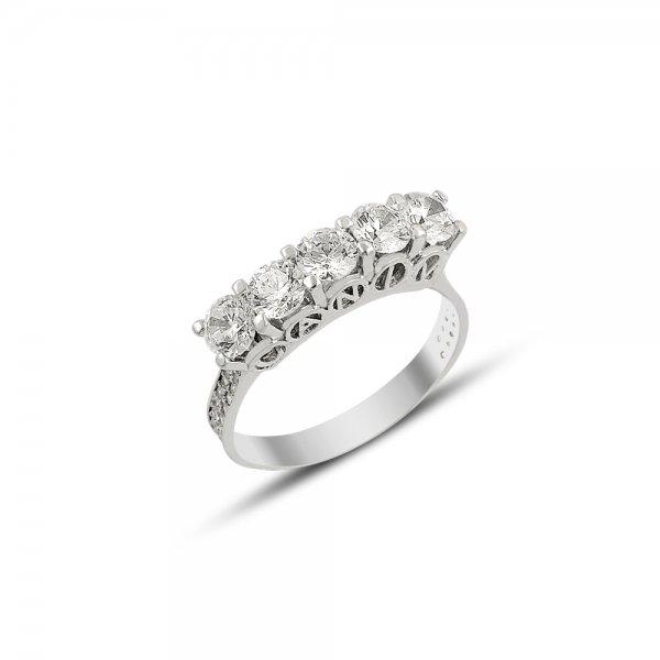 CZ Five Stone Turkish My Mum Written Ring - R81892