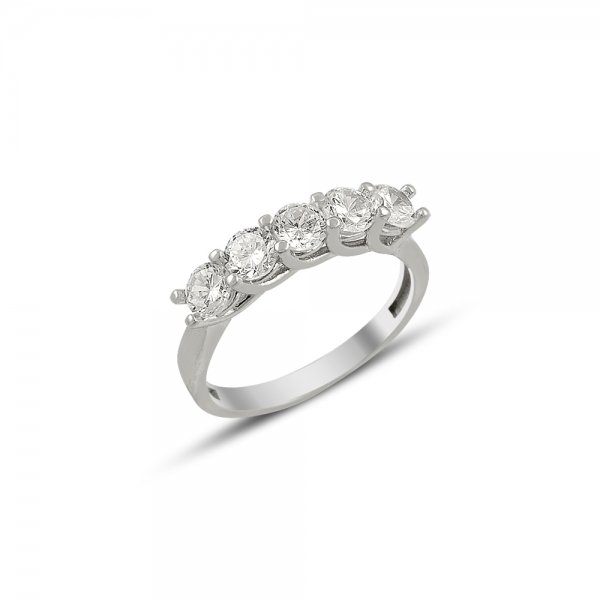 CZ Five Stone Ring - R81891