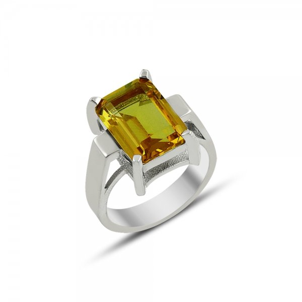 Emerald Cut Sultanit Solitaire Ring - R81862