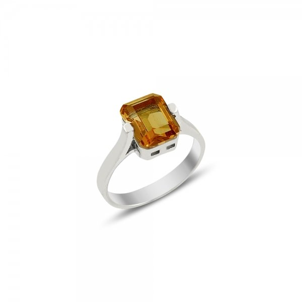 Sultanit Solitaire Rectangle Ring - R81718