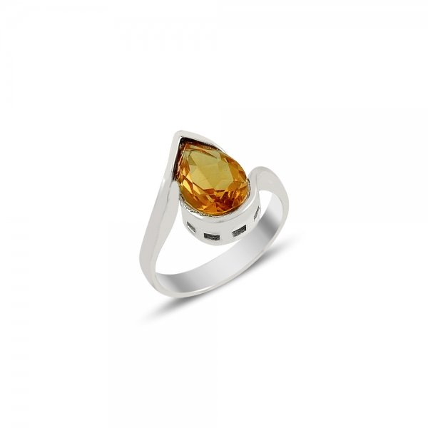 Sultanit Solitaire Pear Ring - R81715