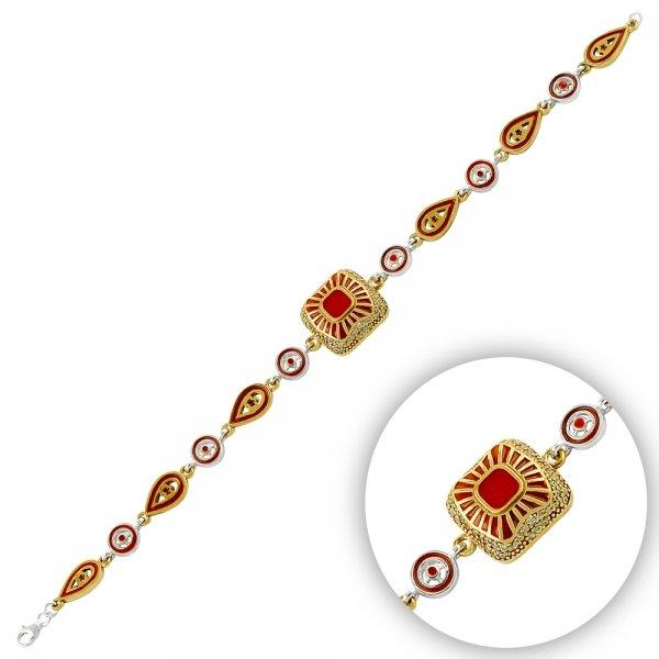 Ottoman Style Enamel Bracelet - B14472