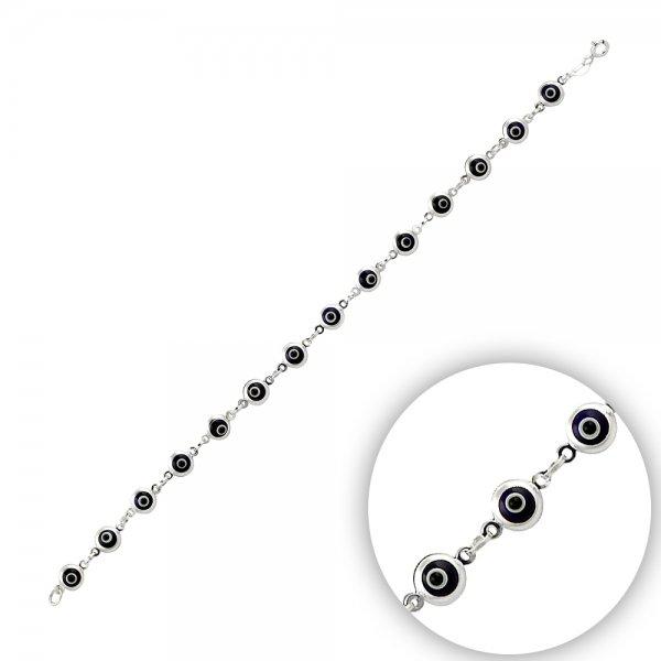 5mm Navy Blue Evil Eye Bracelet - B14371