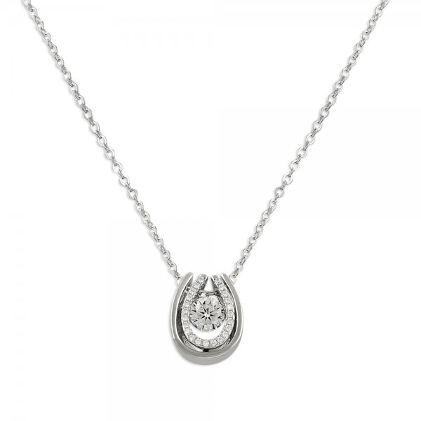 CZ Horseshoe Necklace - N14271