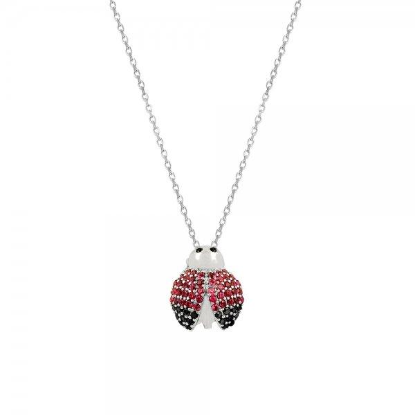 CZ Ladybug Necklace - N81937
