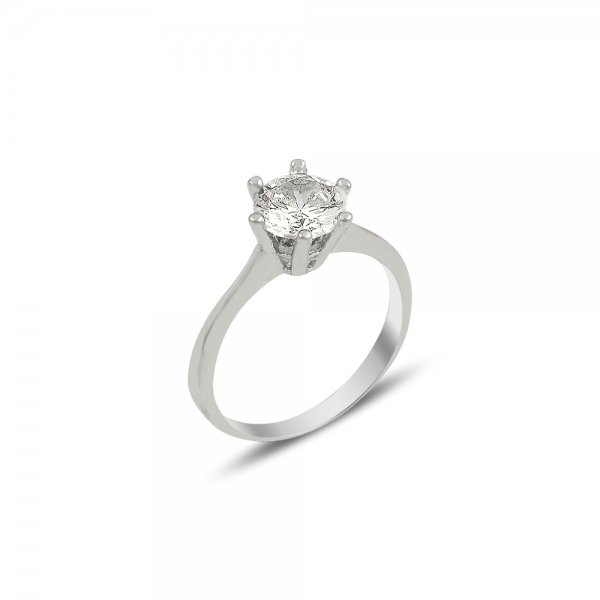 CZ Solitaire Ring - R82025