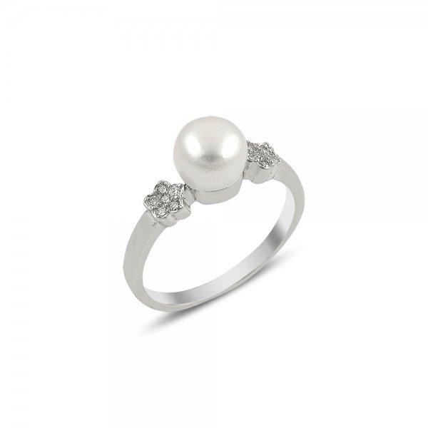 Pearl & CZ Daisy Ring - R82023