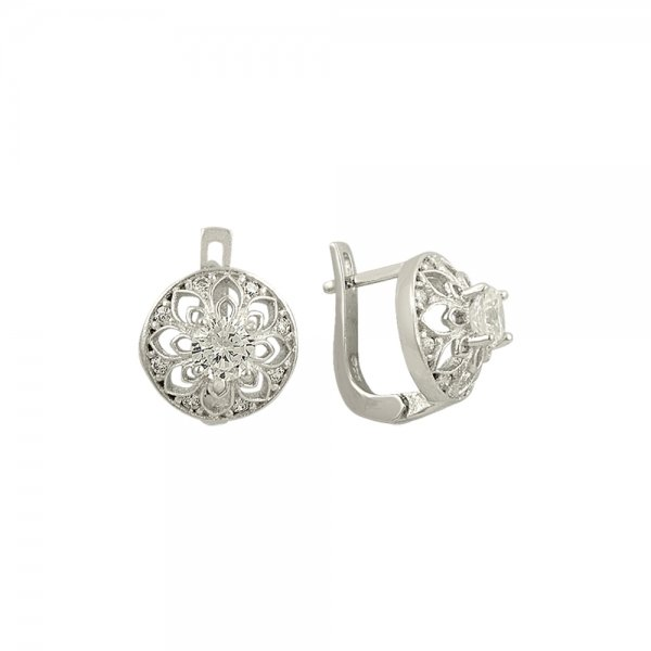 Round Cut CZ Earrings - E82117