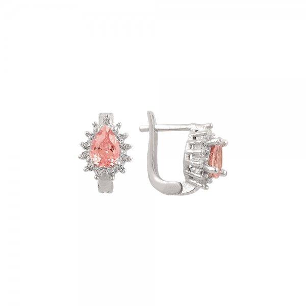 Pear Cut CZ Earrings - E82116