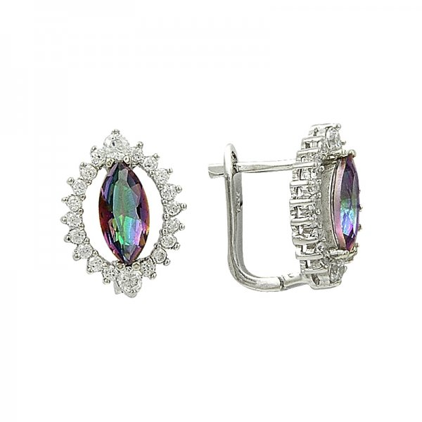 Mystic Topaz CZ Earrings - E82055