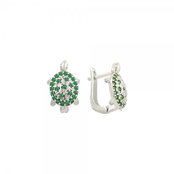 CZ Turtle Earrings - E82079