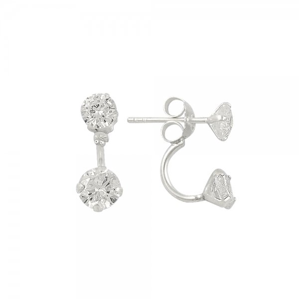 Solitaire Double Earrings - E14303