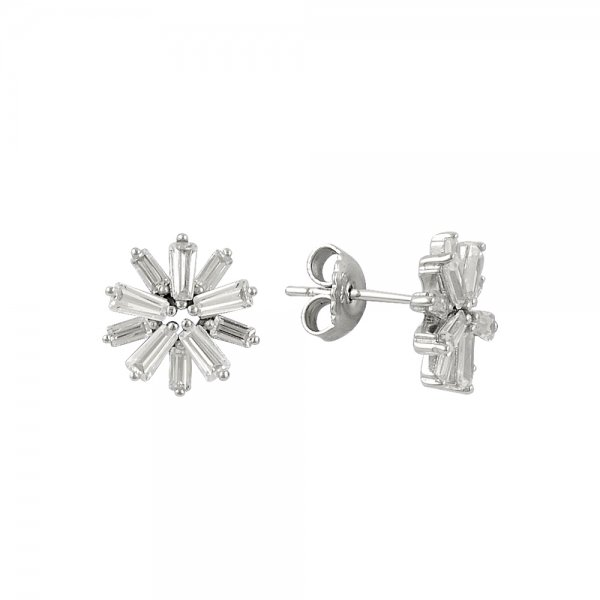 Baguette CZ Earrings - E14304