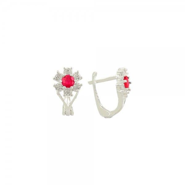 CZ Flower Earrings - E81922