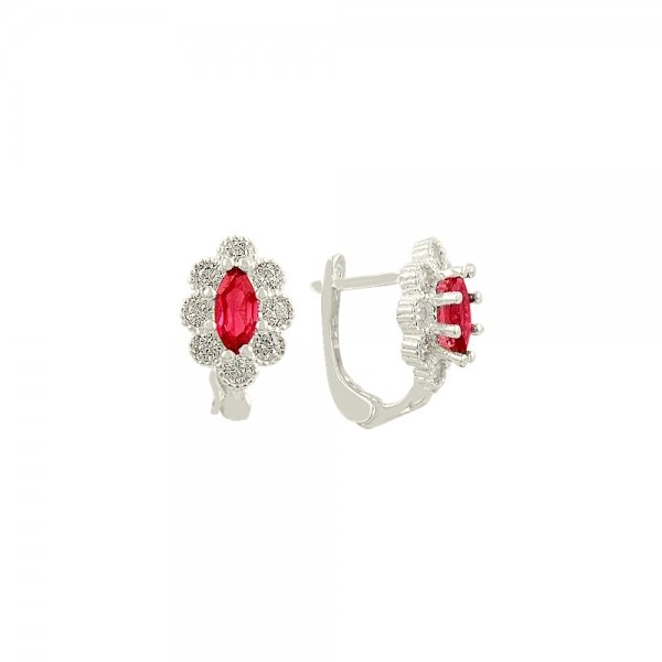 CZ Oval Earrings - E81923