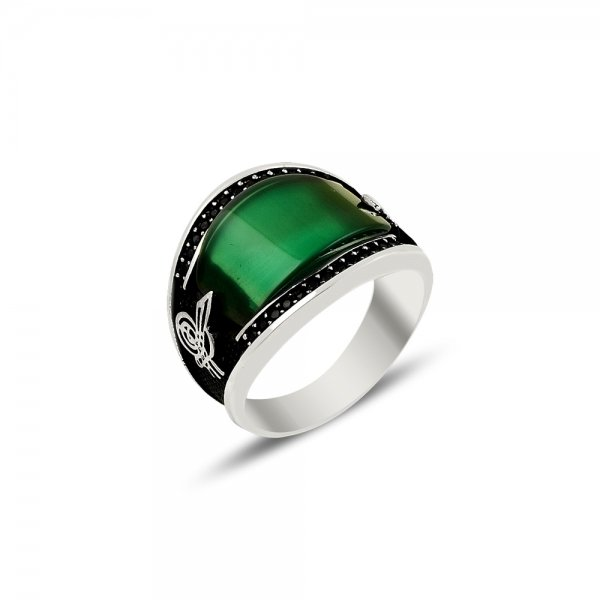 Gemstone Tughra Ring - R82129