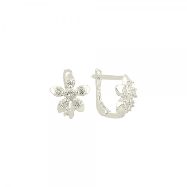 CZ Flower Earrings - E81925