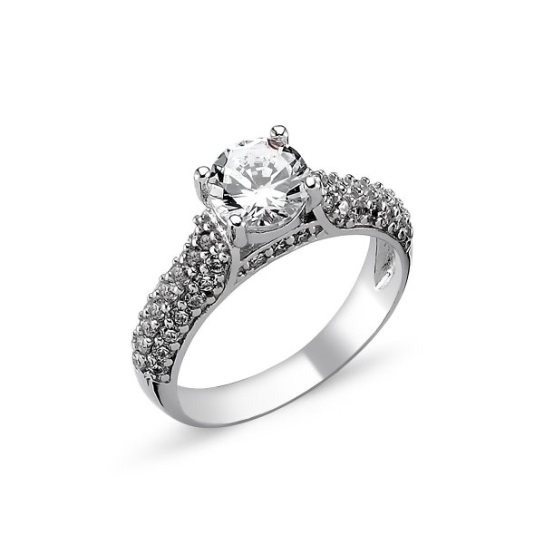 CZ Solitaire Ring - R82314