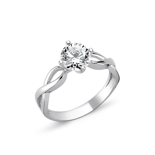 CZ Infinity Design Solitaire Ring - R82321