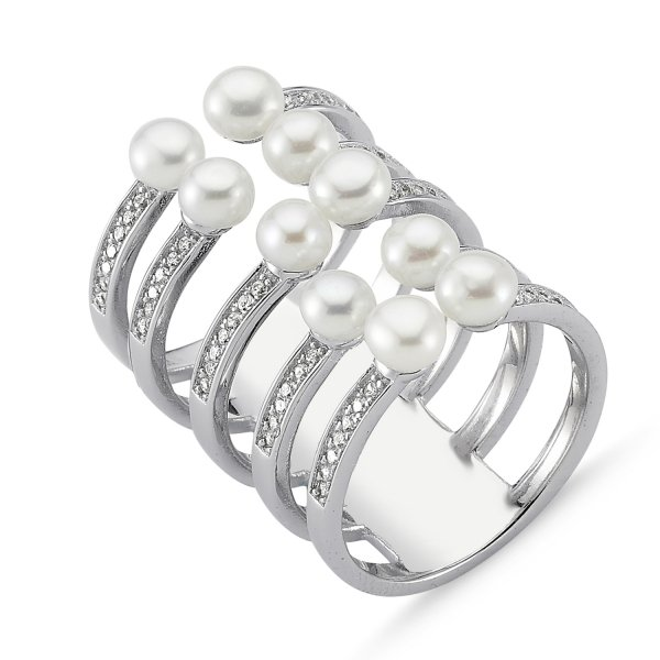 CZ&Pearl Ring - R82494