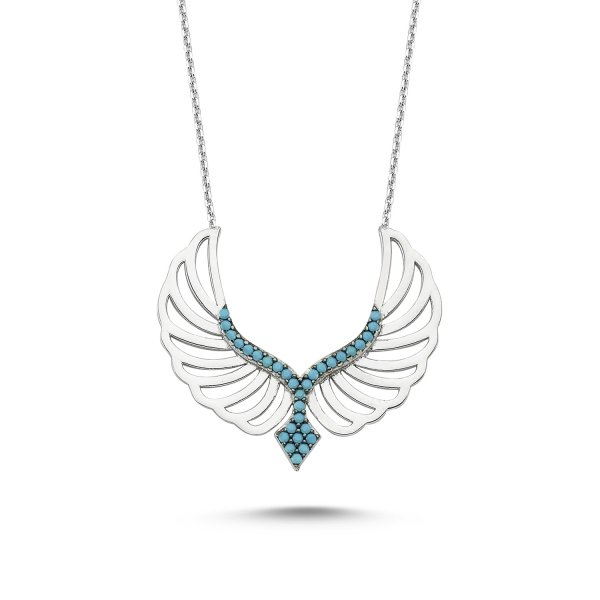 CZ Wing Necklace - N82576
