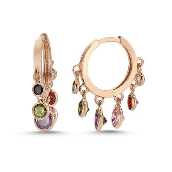 Multicolor CZ Charm Earrings - E82696