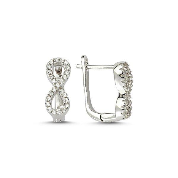 CZ Infinity Earrings - E83225