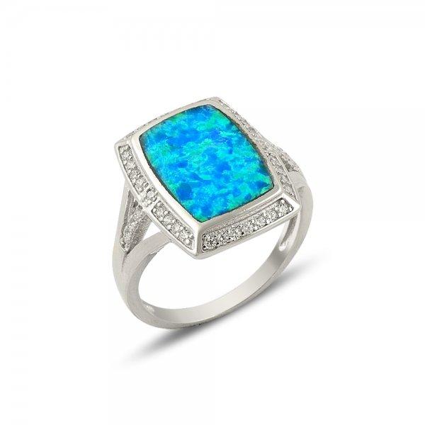 Opal & Cubic Zirconia Ring - R14177