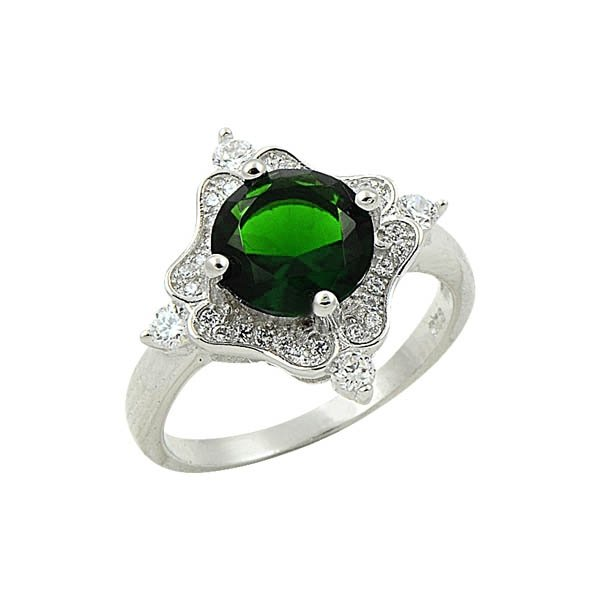 Silver Zirconia Ring - R09003