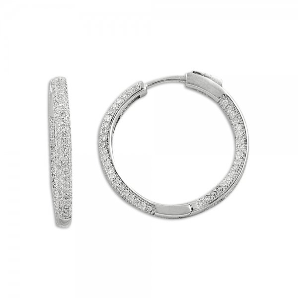 Zirconia Hoop Earrings - E09815