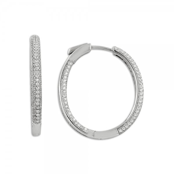 Zirconia Hoop Earrings - E09817