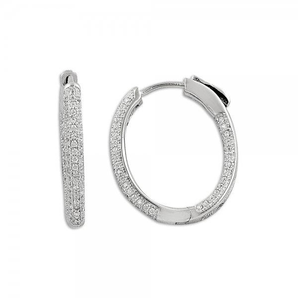 Zirconia Hoop Earrings - E09818