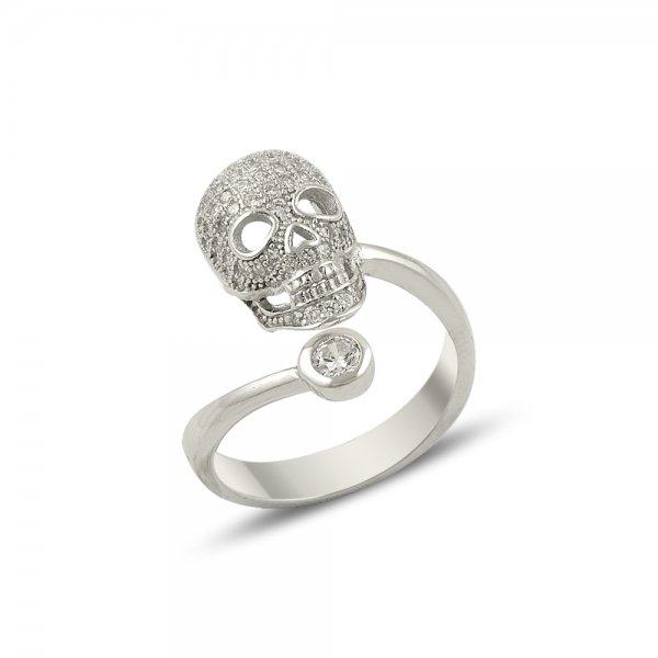 Cubic Zirconia Skull Ring - R14153