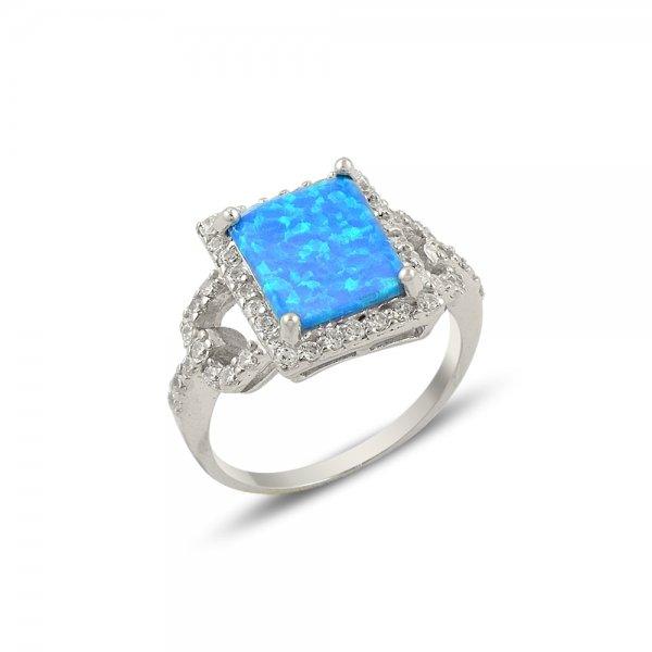Opal & Cubic Zirconia Ring - R14167