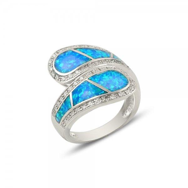 Opal & Cubic Zirconia Ring - R14183