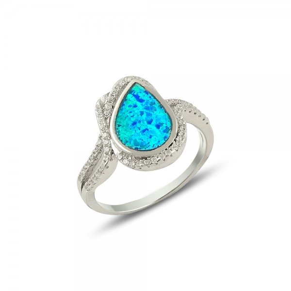 Opal & Cubic Zirconia Ring - R14185