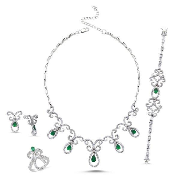Emerald CZ Set - S14319
