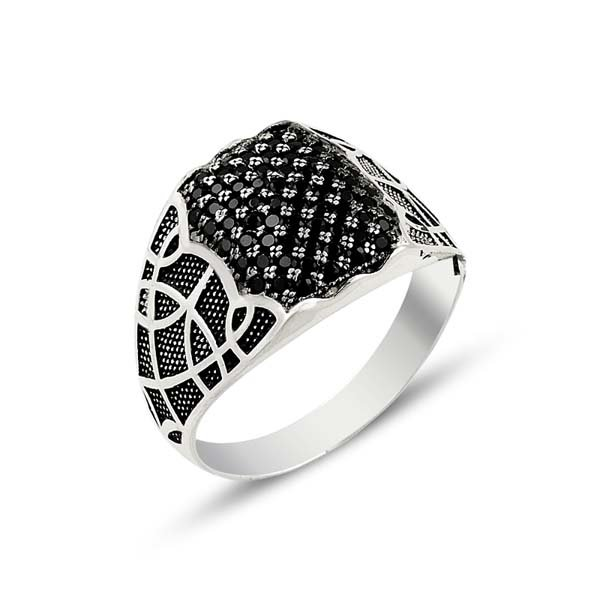 SILVER MENS RING - R13802