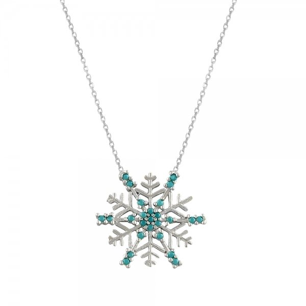 CZ Snowflake Necklace - N82140