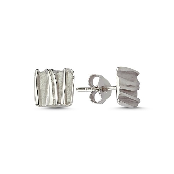 Stoneless Square Earring - E82279