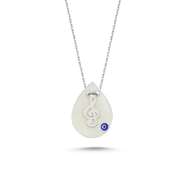 Treble Clef & Evil Eye Necklace - N82293
