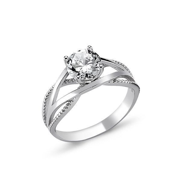CZ Solitaire Ring - R82309