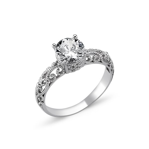 CZ Solitaire Ring - R82311
